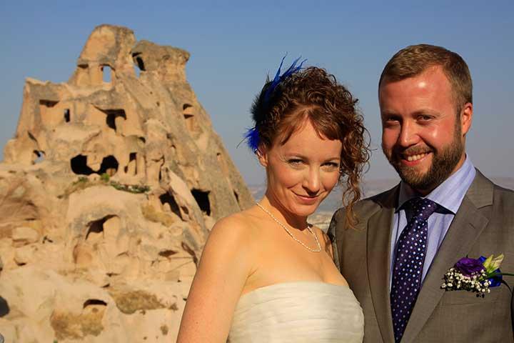 Kapadokya Düğünü Uçhisar Manzara