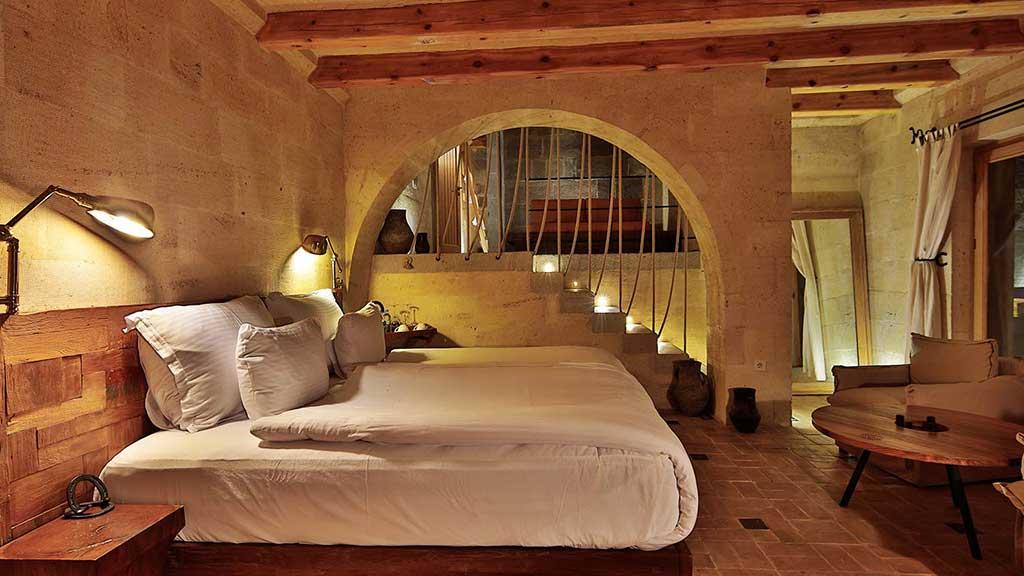 Millstone Cave Suites Balayı Odası