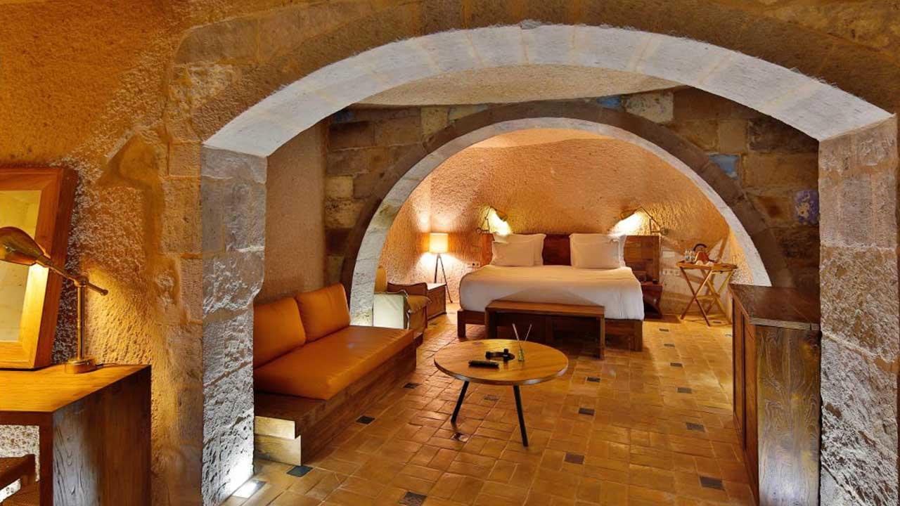 Millstone Cave Hotel Balayı Odası