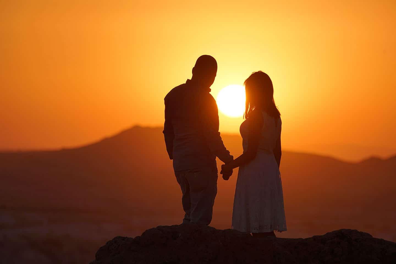 Kapadokya Balayı Romantik Günbatımı Kızılçukur