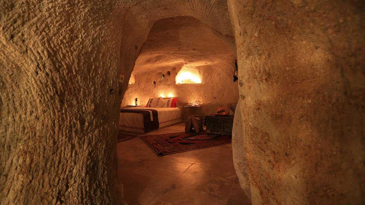 Queens Cave Hotel Kapadokya Kaya Oda